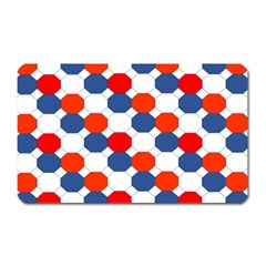 Geometric Design Red White Blue Magnet (rectangular) by Celenk