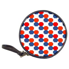 Geometric Design Red White Blue Classic 20 Cd Wallets by Celenk