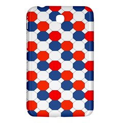 Geometric Design Red White Blue Samsung Galaxy Tab 3 (7 ) P3200 Hardshell Case  by Celenk