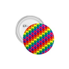 Rainbow 3d Cubes Red Orange 1 75  Buttons by Celenk