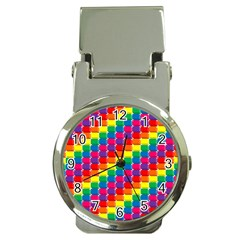 Rainbow 3d Cubes Red Orange Money Clip Watches