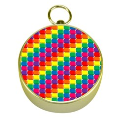 Rainbow 3d Cubes Red Orange Gold Compasses by Celenk
