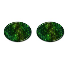 Bokeh Background Texture Marijuana Cufflinks (oval) by Celenk