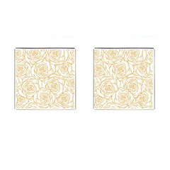 Yellow Peonies Cufflinks (square) by 8fugoso