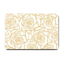 Yellow Peonies Small Doormat  by 8fugoso