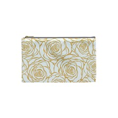 Yellow Peonies Cosmetic Bag (small)  by 8fugoso