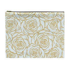 Yellow Peonies Cosmetic Bag (xl) by 8fugoso