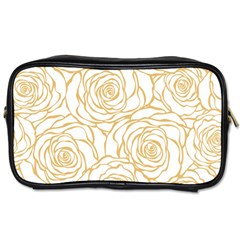 Yellow Peonies Toiletries Bags 2 Side by 8fugoso