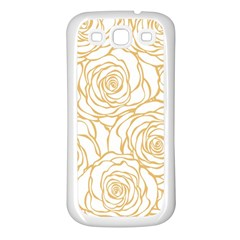 Yellow Peonies Samsung Galaxy S3 Back Case (white) by 8fugoso