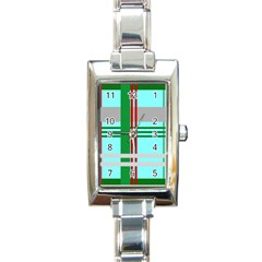 Christmas Plaid Backgrounds Plaid Rectangle Italian Charm Watch by Celenk