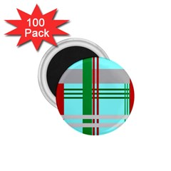 Christmas Plaid Backgrounds Plaid 1 75  Magnets (100 Pack)  by Celenk
