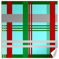Christmas Plaid Backgrounds Plaid Canvas 20  X 20   by Celenk