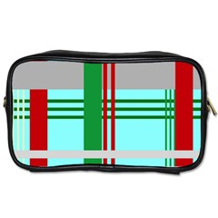 Christmas Plaid Backgrounds Plaid Toiletries Bags by Celenk