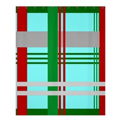 Christmas Plaid Backgrounds Plaid Shower Curtain 60  X 72  (medium)  by Celenk