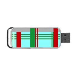 Christmas Plaid Backgrounds Plaid Portable Usb Flash (two Sides) by Celenk