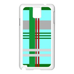 Christmas Plaid Backgrounds Plaid Samsung Galaxy Note 3 N9005 Case (white) by Celenk