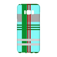 Christmas Plaid Backgrounds Plaid Samsung Galaxy S8 Hardshell Case