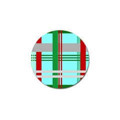 Christmas Plaid Backgrounds Plaid Golf Ball Marker by Celenk