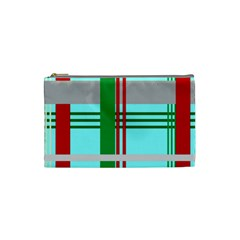 Christmas Plaid Backgrounds Plaid Cosmetic Bag (small)  by Celenk