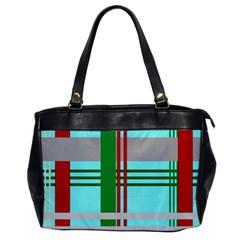 Christmas Plaid Backgrounds Plaid Office Handbags by Celenk