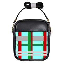 Christmas Plaid Backgrounds Plaid Girls Sling Bags by Celenk