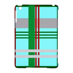 Christmas Plaid Backgrounds Plaid Apple Ipad Mini Hardshell Case (compatible With Smart Cover) by Celenk