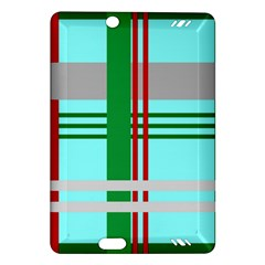 Christmas Plaid Backgrounds Plaid Amazon Kindle Fire Hd (2013) Hardshell Case by Celenk