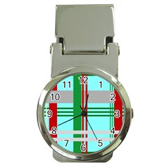 Christmas Plaid Backgrounds Plaid Money Clip Watches by Celenk