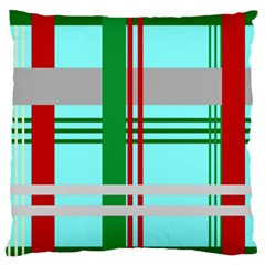 Christmas Plaid Backgrounds Plaid Standard Flano Cushion Case (one Side) by Celenk