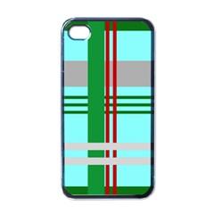Christmas Plaid Backgrounds Plaid Apple Iphone 4 Case (black) by Celenk