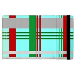 Christmas Plaid Backgrounds Plaid Apple Ipad 2 Flip Case by Celenk