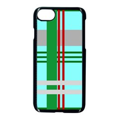 Christmas Plaid Backgrounds Plaid Apple Iphone 7 Seamless Case (black) by Celenk