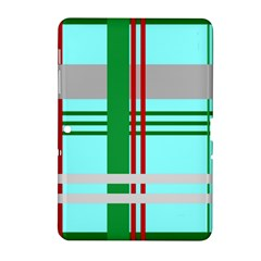 Christmas Plaid Backgrounds Plaid Samsung Galaxy Tab 2 (10 1 ) P5100 Hardshell Case  by Celenk