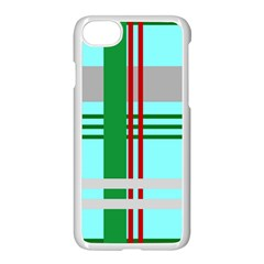 Christmas Plaid Backgrounds Plaid Apple Iphone 8 Seamless Case (white) by Celenk
