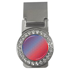 Dots Red White Blue Gradient Money Clips (cz)  by Celenk