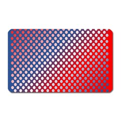 Dots Red White Blue Gradient Magnet (rectangular) by Celenk