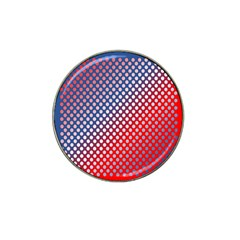 Dots Red White Blue Gradient Hat Clip Ball Marker by Celenk