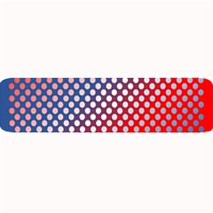 Dots Red White Blue Gradient Large Bar Mats by Celenk