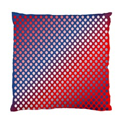Dots Red White Blue Gradient Standard Cushion Case (one Side) by Celenk