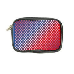 Dots Red White Blue Gradient Coin Purse by Celenk