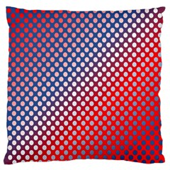 Dots Red White Blue Gradient Large Cushion Case (one Side) by Celenk