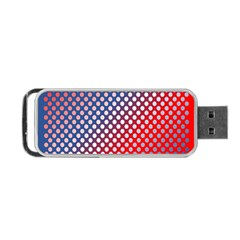 Dots Red White Blue Gradient Portable Usb Flash (one Side) by Celenk