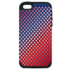 Dots Red White Blue Gradient Apple Iphone 5 Hardshell Case (pc+silicone) by Celenk