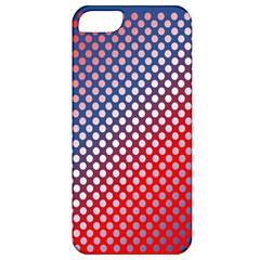 Dots Red White Blue Gradient Apple Iphone 5 Classic Hardshell Case by Celenk