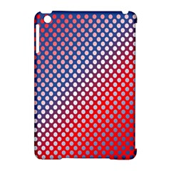 Dots Red White Blue Gradient Apple Ipad Mini Hardshell Case (compatible With Smart Cover) by Celenk