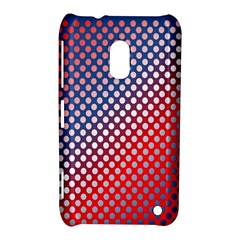 Dots Red White Blue Gradient Nokia Lumia 620 by Celenk
