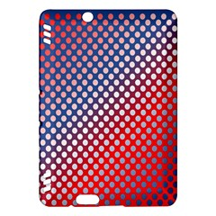 Dots Red White Blue Gradient Kindle Fire Hdx Hardshell Case by Celenk