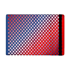 Dots Red White Blue Gradient Ipad Mini 2 Flip Cases by Celenk