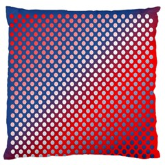 Dots Red White Blue Gradient Standard Flano Cushion Case (two Sides) by Celenk