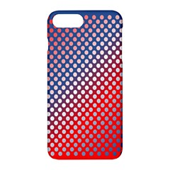 Dots Red White Blue Gradient Apple Iphone 7 Plus Hardshell Case by Celenk